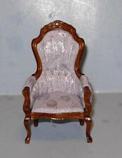 VINTAGE VICTORIAN GENTS CHAIR DOLL HOUSE FURNITURE MINIATURES