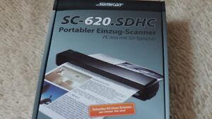 Somikon Portabler Einzug Scanner SC-620 SDHC PC-less mit SD Slot