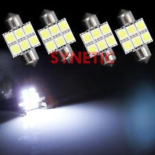 4x 6000K Xenon Bright White 31mm SMD Festoon 6-LED Light Bulbs Interior Dome