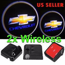 2x Wireless LED Courtesy Car Door Step Laser Welcome Ghost Lights for Chevrolet
