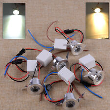 5X 3W LED Recessed Mini Spot Light Lamp Small Cabinet Ceiling Downlight Fixture