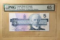 Canada BC-56c 1986 $5 Dollars Bonin | Thiessen PMG 65 EPQ S/N GPW1993241