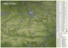 YPRES SALIENT - First World War Map of YPRES 1914-1918 FLAT LAMINATED MAP