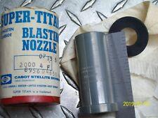 "3"" LONG TUNGSTEN CARBIDE 1/4"" BORE SANDBLAST SHOTBLAST BLASTING NOZZLE 2000-4F"