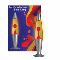 "Large Rocket 16"" 40cm Yellow & Red Larva Lava Lamp Decorative Lighting Lamps UK"