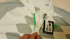 GENUINE Lotto T-Shirt Conner Net Tennis - White / Fluo Green, US Size S