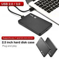 2.5 Inch HDD SSD Case Sata to USB 3.0/2.0 Hard Drive Enclosure 5Gbp Box Case