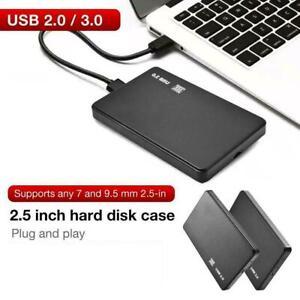 2.5 Inch HDD SSD Case Sata to USB 3.0/2.0 Hard Drive Enclosure 5Gbp Box .