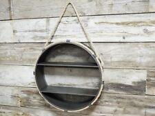 Parete in metallo industriale SCAFFALI APPESI Corda Vintage con Round