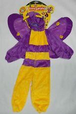 Kids' Safari Plush Purple and Yellow Belinda Butterfly Costume - Size Medium