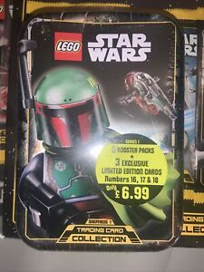 Lego Star Wars Series 1 Trading Cards Sealed Tin Ultra Rare