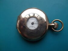 Gold Plated Prescot Half Hunter Pocket Watch