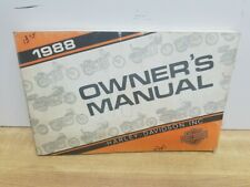 New Listing1988 Harley Davidson Models Owners Manual