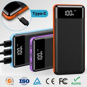 500000mah Portable Power Bank LCD LED 3 USB Battery Charger For Mobile Phone USA