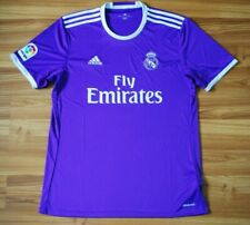REAL MADRID AWAY FOOTBALL SHIRT 2016/2017 JERSEY SOCCER CAMISETA MAGLIA LARGE