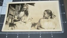 Girl COMB LONG HAIR Dirty Hairstyle Woman Lady Vintage Vernacular Snapshot PHOTO