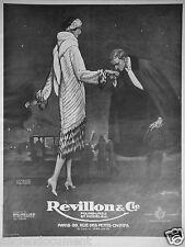 PUBLICITÉ 1925 REVILLON & Cie FOURRURES ET MODÈLES - MARQUITA CAPE D'HERMINE