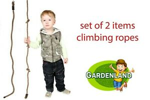 2x climbing ropes Knotted Climbing Rope 2m and 2m climbing rope