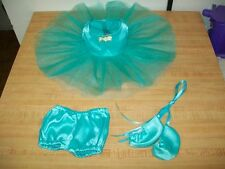 "16"" CPK Cabbage Patch Kids DARK AQUA/TURQUOISE BALLET BALLERINA TUTU PANTY SHOES"