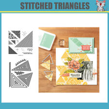 STITCHED TRIANGLES Metal Cutting Dies and stamp DIY Scrapbooking Card