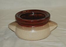 Old Vintage Stoneware Pottery Bean Pot Crock w Lug Handles Three Tone