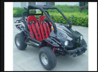 150cc Petrol Go Kart  9.25hp Max load   356lbs with Reverse Electric Start Cart
