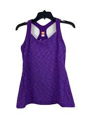 Lucy Power Racerback Tank W/ Padded Purple Size Medium Yoga Activewear Top