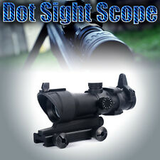 1X 32 Red/Green Dot Sight Hunting Rifle Scope Tactical w/ 20mm Weaver Rail Mount