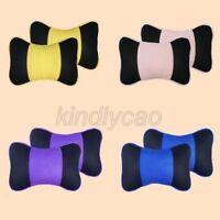 2pcs Car Seat Head Neck Rest Cushion Headrest Pad Bone Pillow khd022
