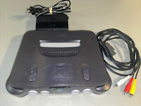 N64 Nintendo 64 Console & Cables Authentic Working Vtg Gray