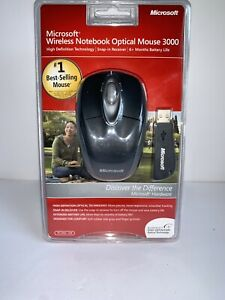 Microsoft Wireless Notebook Optical Mouse 3000 - PC Windows & Mac NEW SEALED