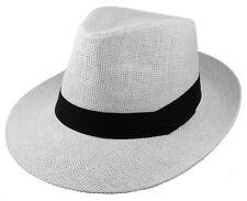 b8e1b9cd39ed3 Gelante Summer Wide Brim Fedora Panama Straw Hats With Black Band (Ship in  BOX)