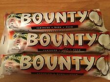 3 x DARK CHOCOLATE BOUNTY BARS, 3 x 57gram BARS, BRITISH CHOCOLATE, FREE UK p&p