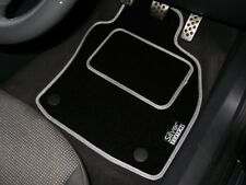 Silver Edition Car Mats To Fit Audi A4 B6 Convertible S-Line (2002-2006) + Logos