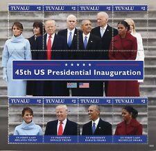Tuvalu 2018 MNH Donald Trump Barack Obama US Presidents 8v M/S III Stamps