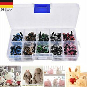 100 Stück Teddy Puppen Augen Plüschtier Sicherheitsaugen Bunt für DIY Spielzeug