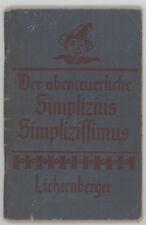 1945 Der Abenteuerliche Simplicissimus,Hans Jakob Christoffel V.Grimm Book