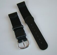 NEW SWISS ARMY 19mm ORIGINAL 2000~BlacK GerMaN LeaTheR BAND/STRAP SS INOX BuckLe