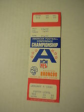 1980 AFC CHAMPIONSHIP Unused Broncos TICKET STUB (Voided - Game never played)