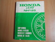 Officina Manuale suppletivo HONDA LEAD NH 125 (1983) - Shop Manual addendum