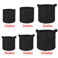 10 Pack Fabric Grow Pots Aeration Plant Planter Bags Root Garden Container