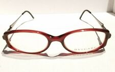 BVLGARI 408 510 50/17 130 RX Eyeglasses Optical Frames dark Red/Silver  Italy