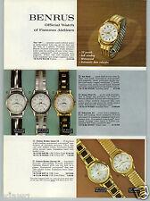 1961 PAPER AD 3 PG Benrus Wrist Watch 39 Jewel Calendar Citation Golden Convair