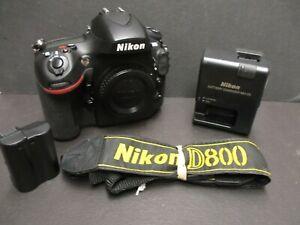 Nikon D800 camera body 27K shutter count used Nikon USA PRODUCT clean