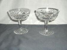 2 Vintage Waterford Lead Crystal Ashling Champagne Tall Sherbet Goblets Signed