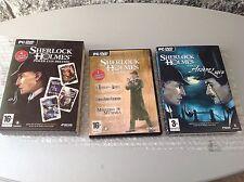 Pc Dvd Vintage Games# Sherlock Holmes Cofanetto Limited Edition 4 Giochi