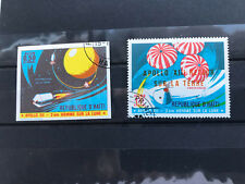 Haiti, 2 big used stamps, VF, Space Conquest Apollo XII one stamp imperforated