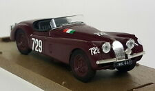 Brumm 1/43 Scale R103 Jaguar XK120 Red Mille Miglia #729 Diecast Model Car