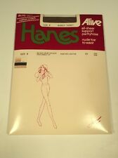 Vintage Pantyhose, Size B, Brown, Hanes Barley There, Alive, Support Pantyhose