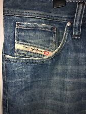 """DIESEL """"ZAF"""" Wash 00702 Made In Italy 100% Cotton Jeans 36x32"""